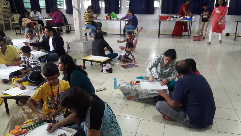 Art with Parent - Class IV - July 2017